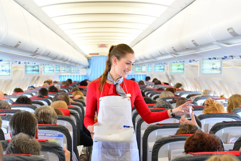 online travel consultant inflight ordering